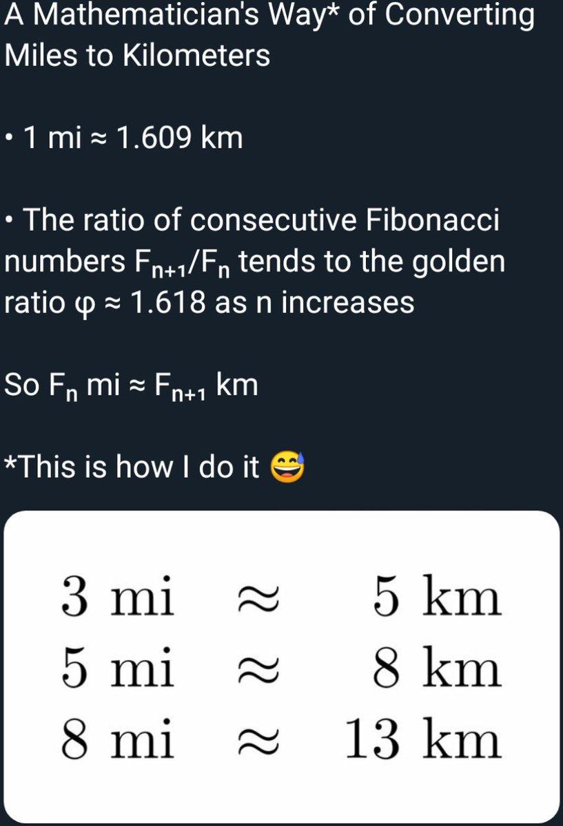 miles to km