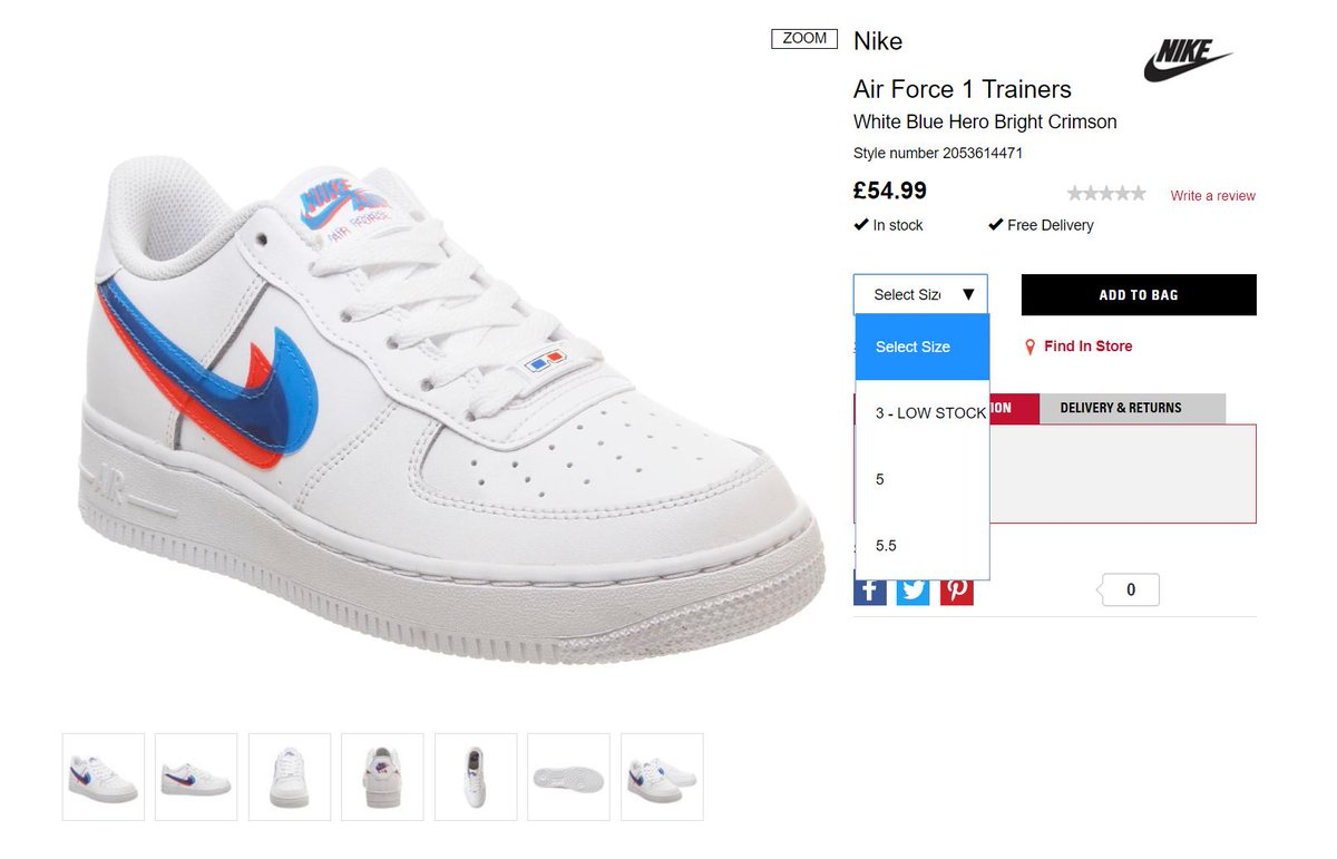 Nike Air Force 1 Low 3D Swoosh GS Release Info |