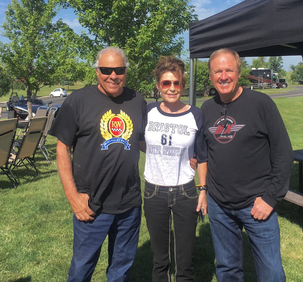 At Sturgis with amazing racing legends... @RustyWallace @DonPrudhomme and @WalkerEvansRace !! 🇺🇸🏁 Supporting a great cause, check it out:  https://t.co/RxcmcploqX https://t.co/ODNoiroGnz
