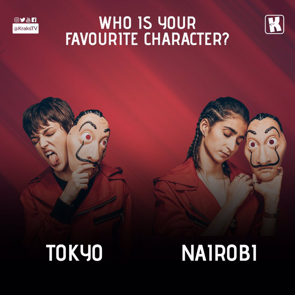 Who's your favourite money heist female character??? RT for