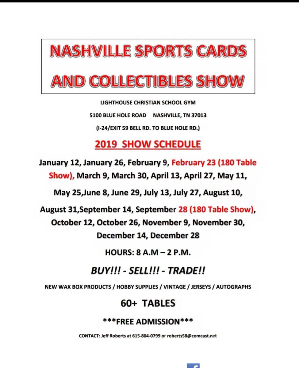 Nashville Card Show At Nashcardshow Twitter