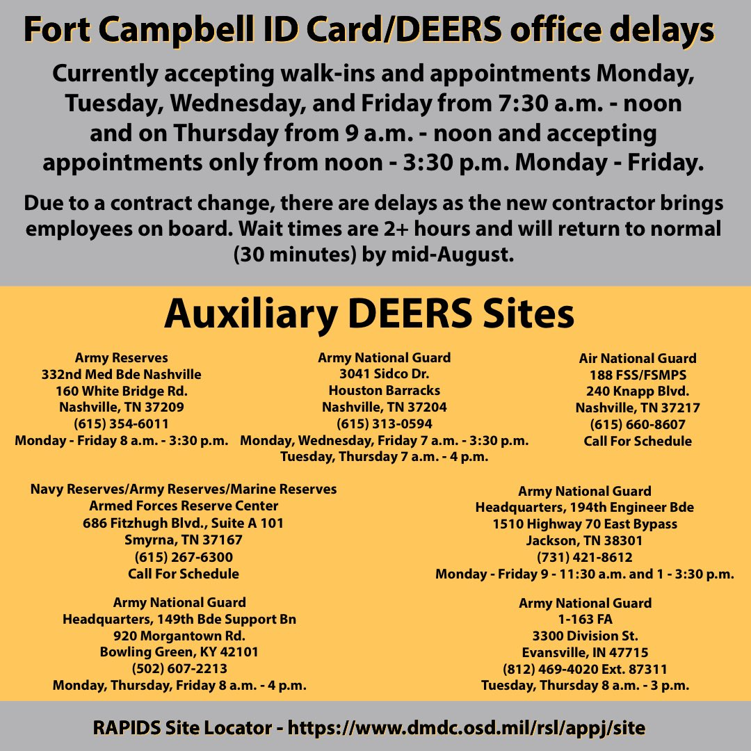 FortCampbell (@FortCampbell) | Twitter