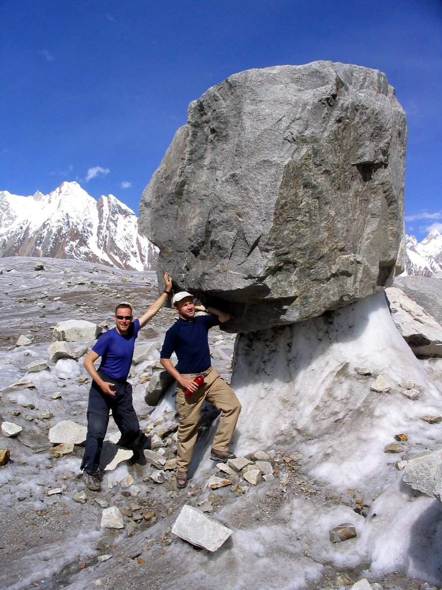 Awesome Trekkings and having fun in #GilgitBaltistan. On the #Biafo #Glacier (8/9 July 2004) #Baintha Camp. 12 day trekking to #Hispar. https://t.co/cNaCSGEvQk