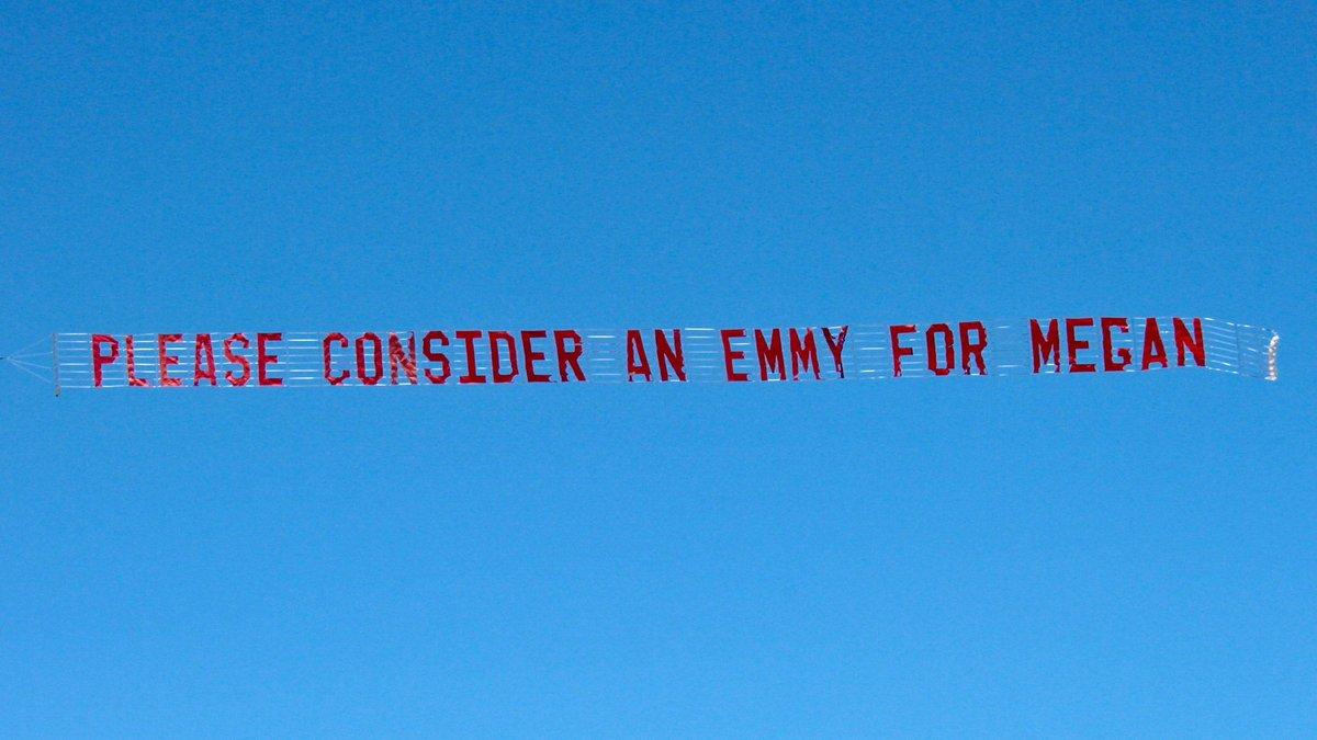 Found something pretty crazy flying over Hollywood today #AnEmmyForMegan