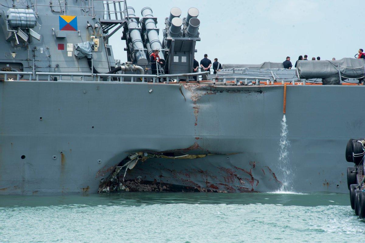 البحرية الأميركية تستبدل شاشات اللمس بأخرى ميكانيكية EBQ-F4rXYAAtjt0