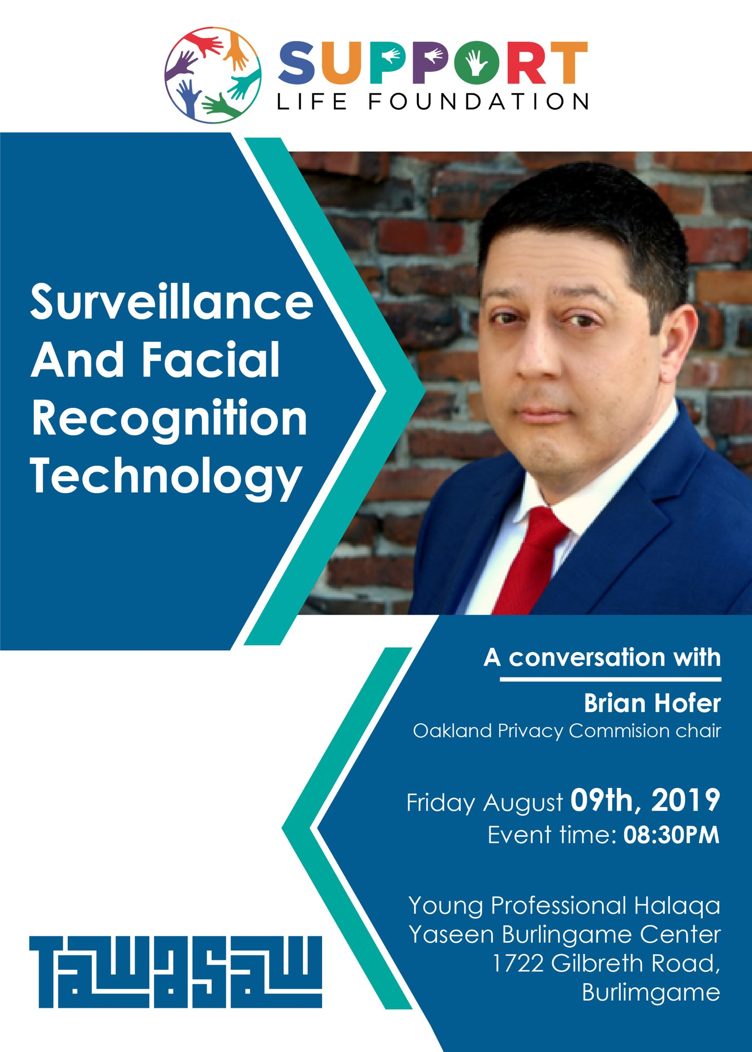 Surveillance and Facial Recognition Technology: A Conversation With Brian Hofer @ Yaseen Burlingame Center
