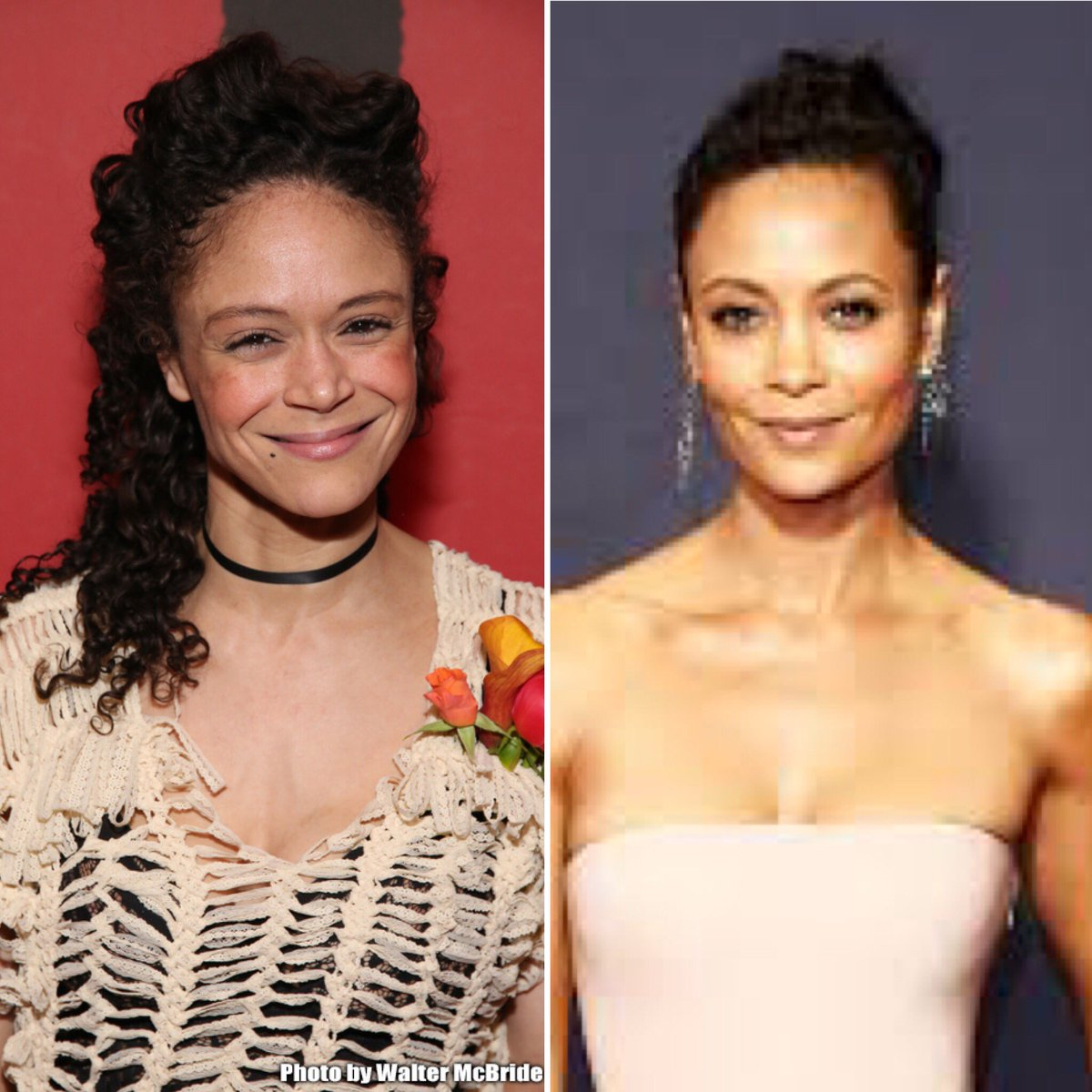 You ever so shook by how much Amber Gray and Thandie Newton look like long lost twins that you make a collage of it at 11 PM? Yeah. Cool. Me neither.  #Hadestown #Westworld https://t.co/EzTfS4YMR5