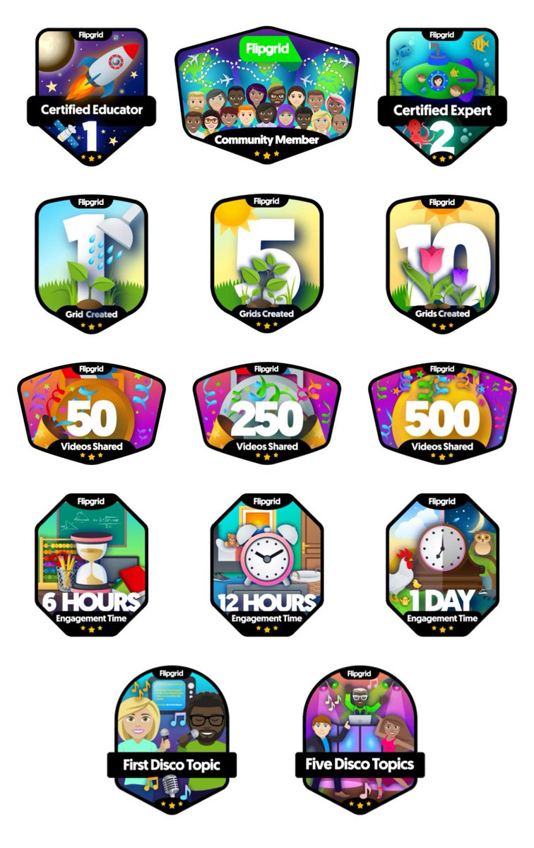 Loving all my new @Flipgrid badges. New Flipgrid, New Badges!