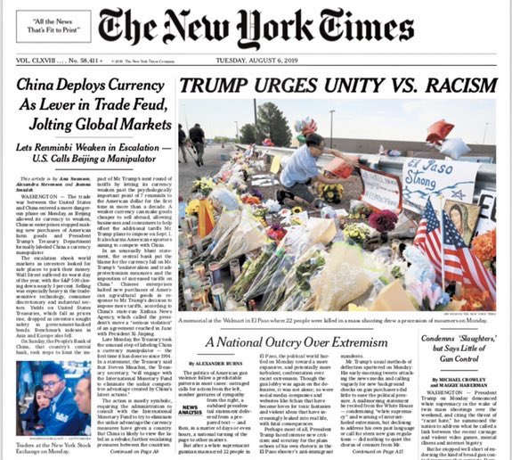 New York Times releases a second edition with a different headline after Twitter backlash and liberals announce they're canceling subscriptions.