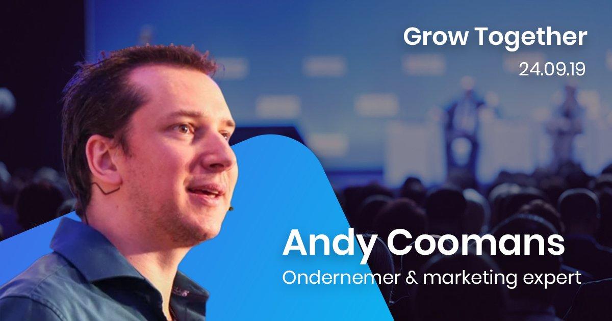 Groeien van zelfstandige tot ondernemer vraagt bloed, zweet en tranen. Andy Coomans vertelt over zijn groeitraject. Ontdek de pro-tips van de zaakvoerder van @nmgmaaktindruk op Grow Together! Info & tickets via https://t.co/31jGuZtHjx https://t.co/gGzpv8vRXn