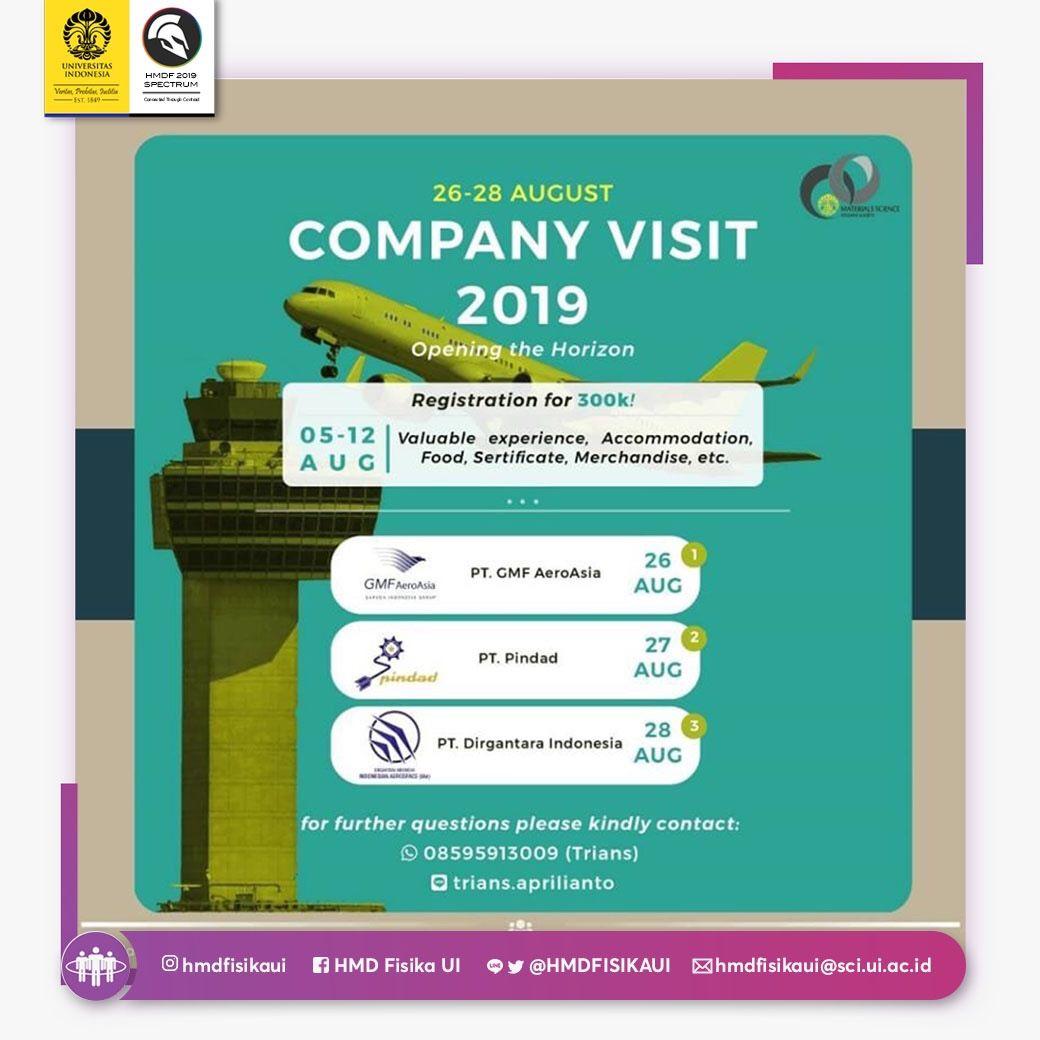 COMPANY VISIT 2019 ] Materials Science Student Society Universitas