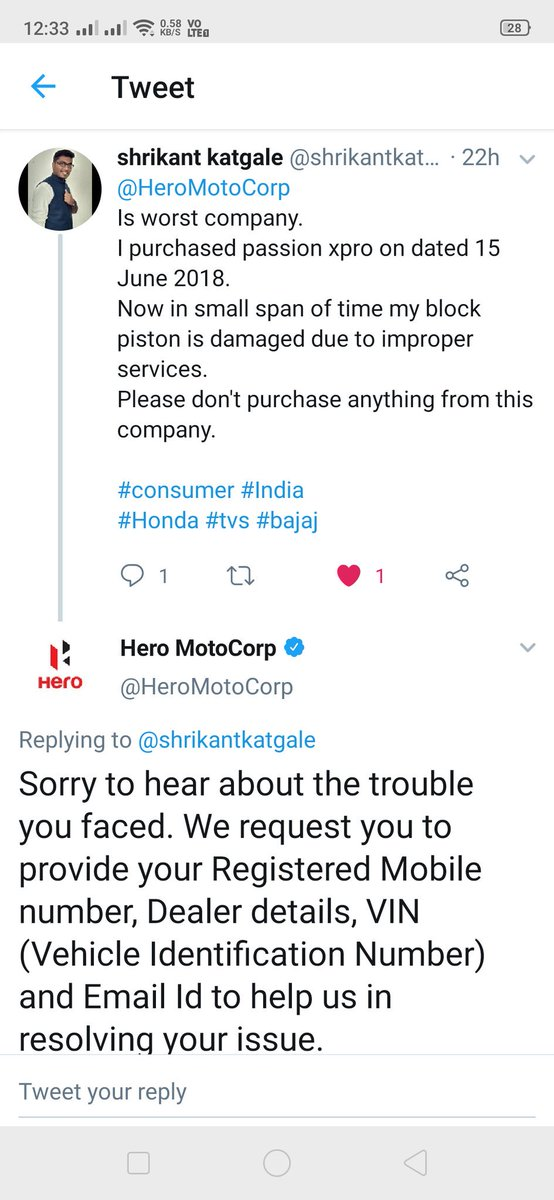 HeroMotoCorp tagged Tweets, Videos and Images on Twitter