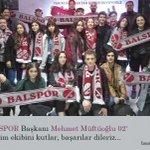 Image for the Tweet beginning: Yeni BALSPOR Başkanı Mehmet Muftuoglu
