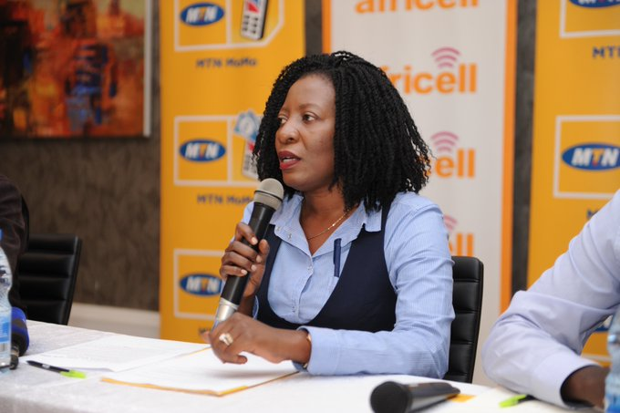 buy Africell airtime and data bundles using mtn momo