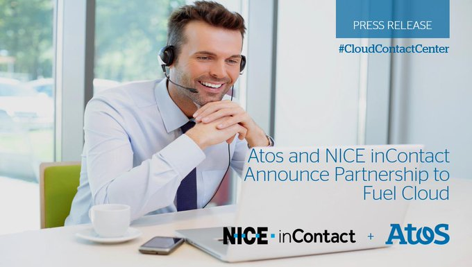 Atos and @NICELtd @inContact announced a partnership in which @Atos will make NICE inContact...