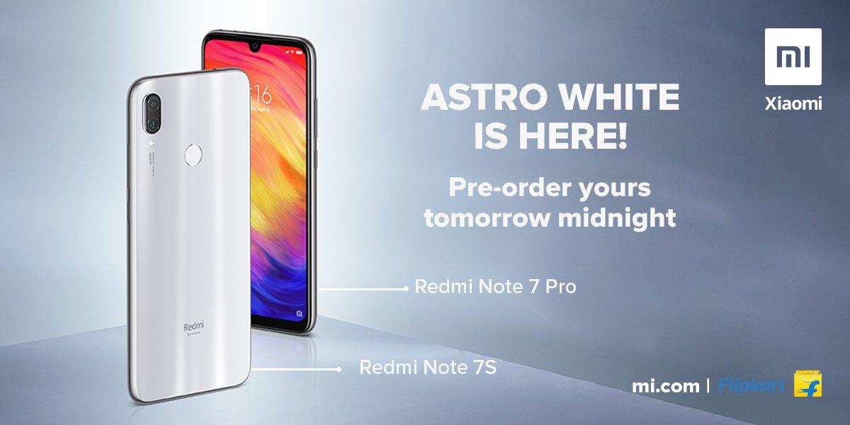 Redmi Note 7 Pro Astro White,Redmi Note 7S Astro White