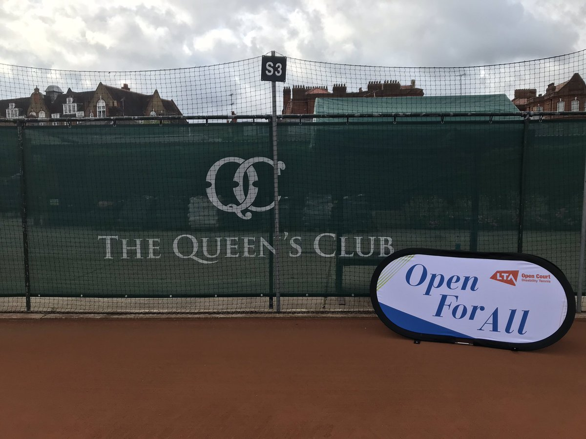 All set for the annual @TheQueensClub inclusive  event in partnership with @the_LTA. Have a fun day everyone! #tennisforeveryone #tennisanybody #Queensclub <br>http://pic.twitter.com/MY0Vuq1Iig