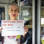 Image for the Tweet beginning: #Unteilbar heißt für mich:  Solidarität