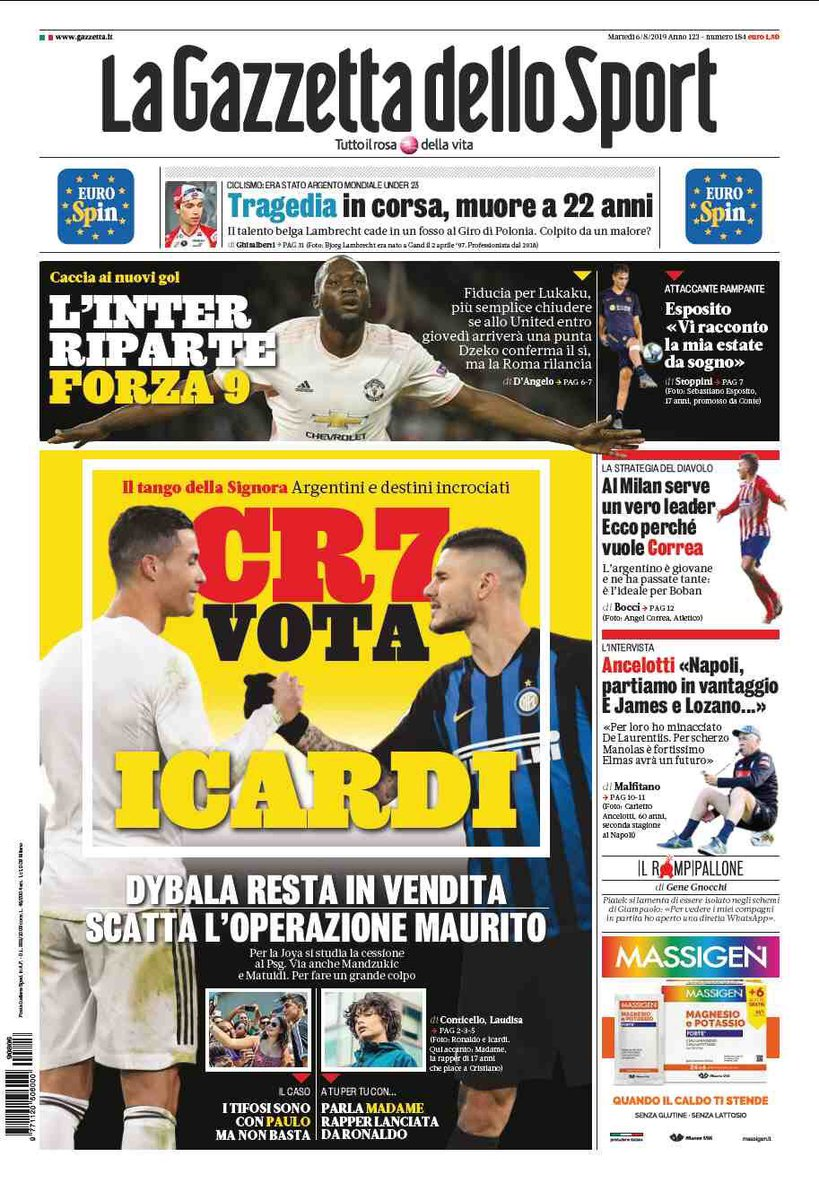 PrimePagine #6agosto Magna Magna featuring George Weah <br>http://pic.twitter.com/UPLzESO92s