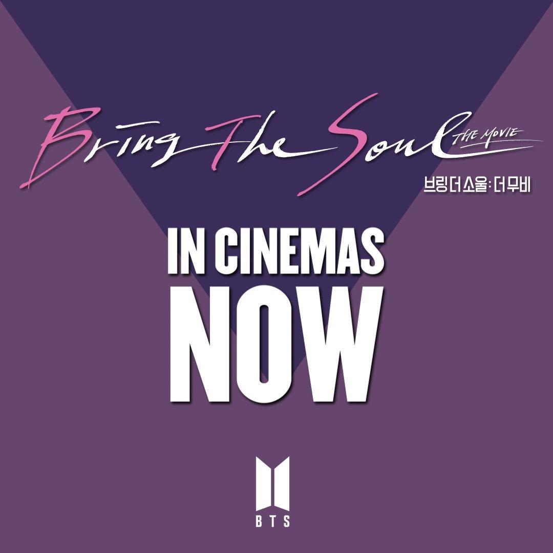 RT @bts_bighit: <BRING THE SOUL: THE MOVIE> 오늘, 전 세계 동시 개봉  🎬 https://t.co/1RuU3oEJPT #BTS #BRINGTHESOUL_THEMOVIE...
