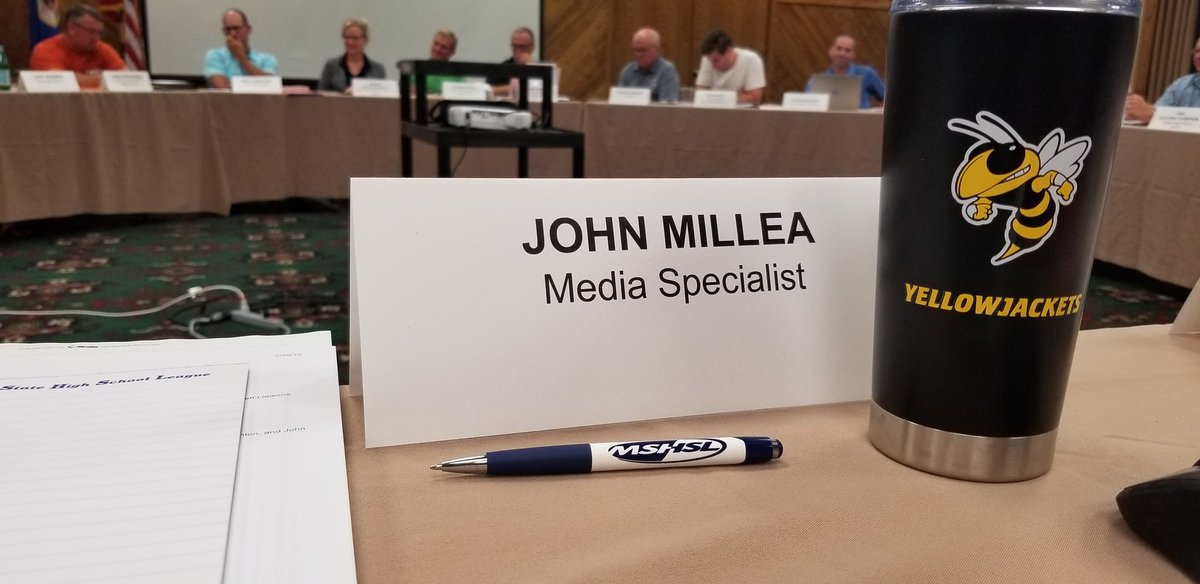 My view of today's #mshsl board of directors meeting.