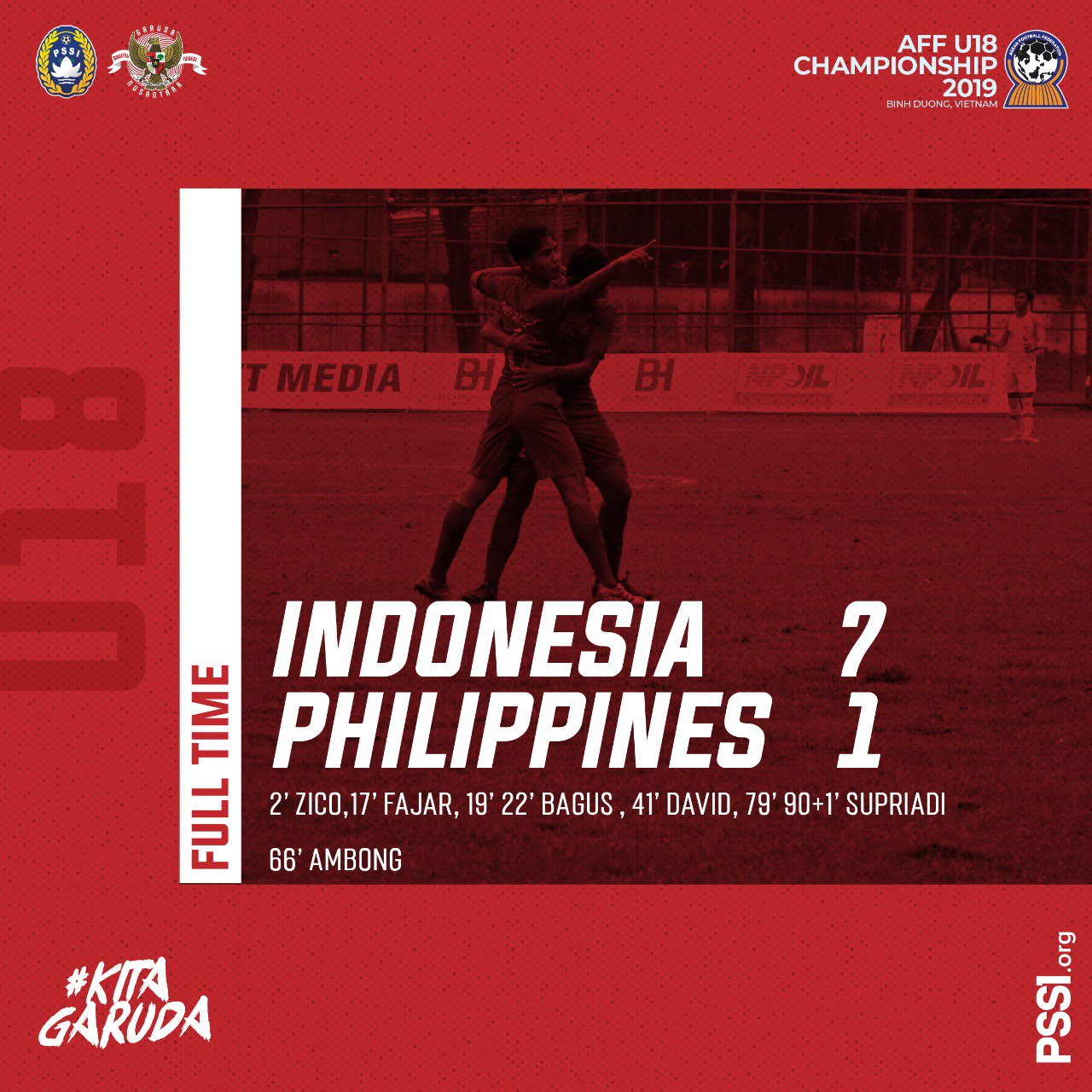 Hasil Pertandingan Timnas U18 indonesia vs Filipina