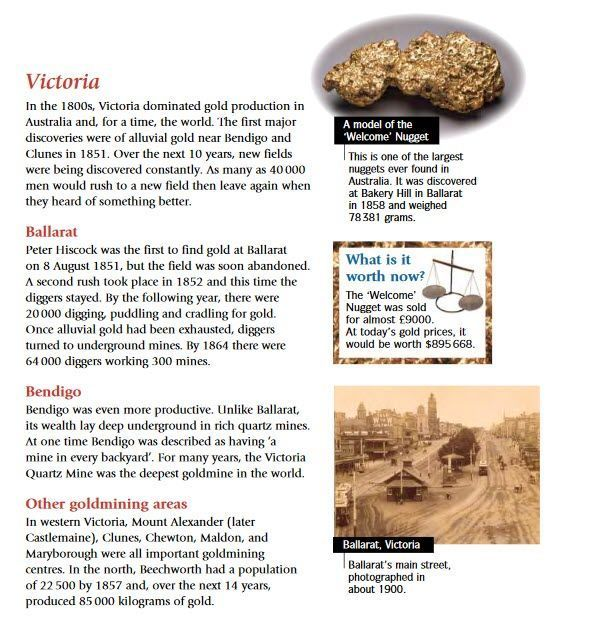 Alluvial Gold Victoria