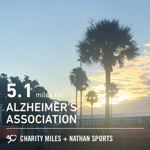 The sun still rises. Back on the track with form work. 5.1 @CharityMiles for @alzassociation.