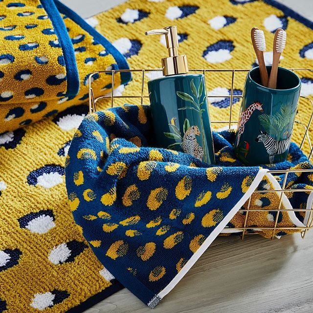 Asda On Twitter Bursting With Playful Colours And Bold Prints These Bathroom Accessories From Georgeatasda Are Perfect For Adding A Pop Of Colour To Your Bathroom We Re Loving These Leopard Print Towels