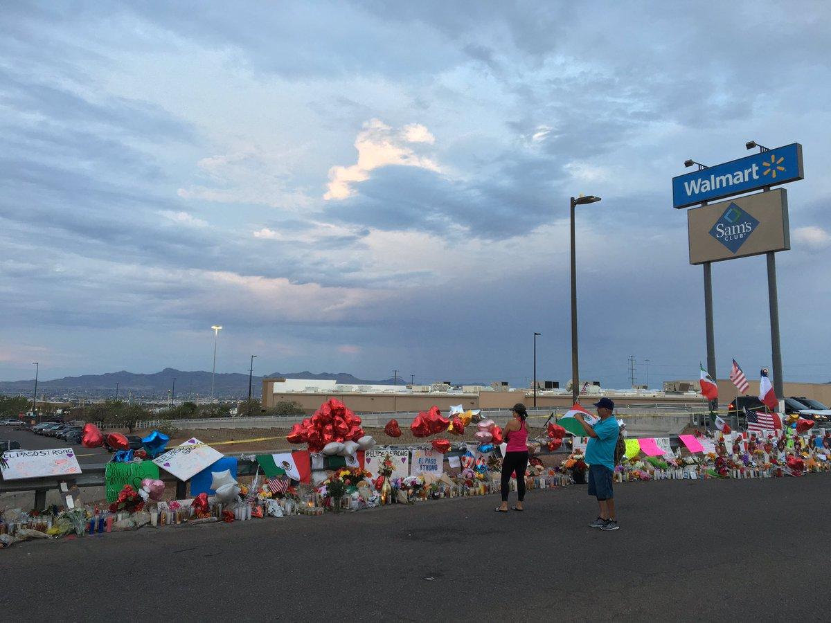 Morning in El Paso. Heartfelt memorials bring peace to the scene of Saturday's mass shooting.