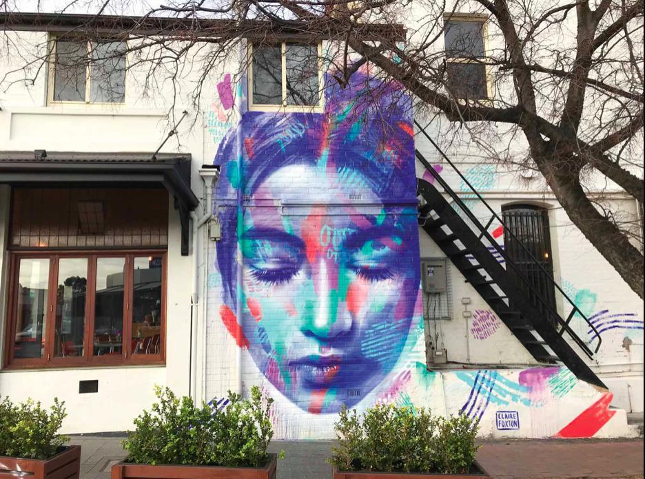 #Streetart by Claire Foxton in Wollongong, #Australia #art