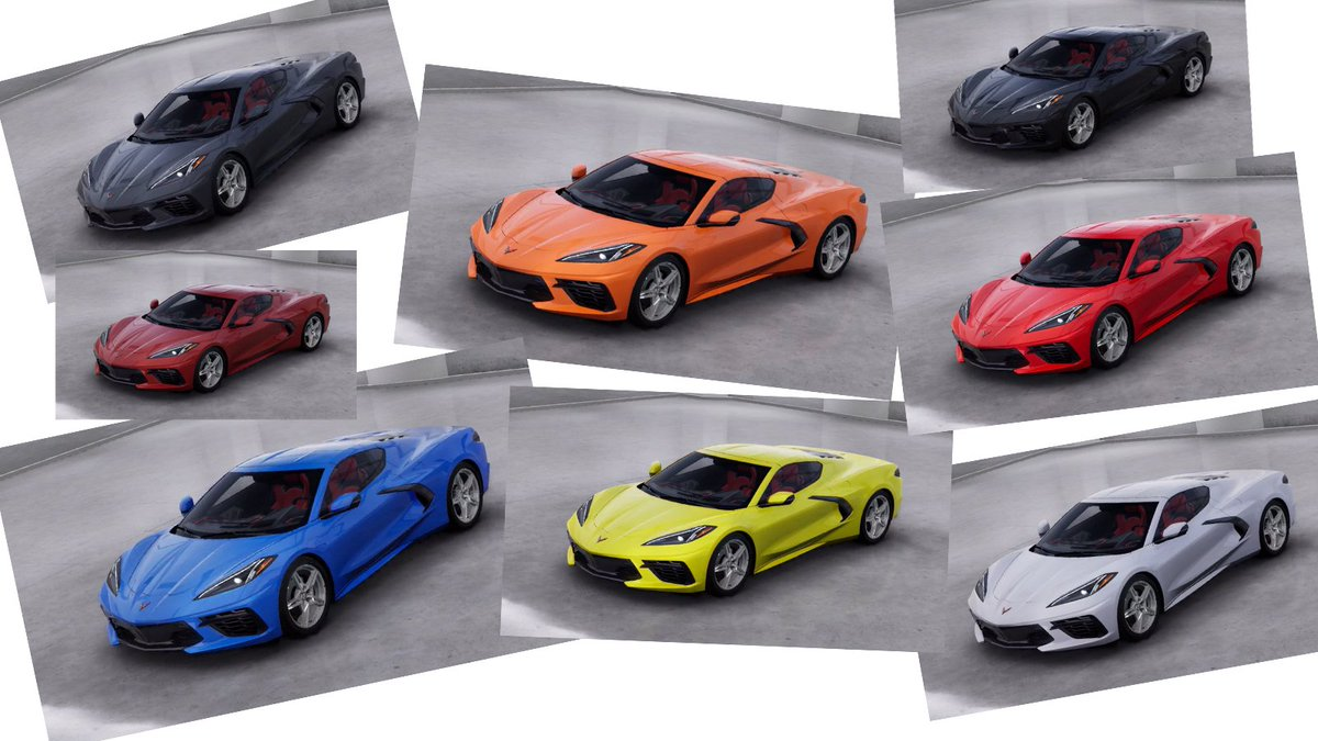 RT @therealautoblog: Here are all the color options for the 2020 Chevy Corvette C8: https://t.co/nFPLkUKEWr https://t.co/L8SRpq338k