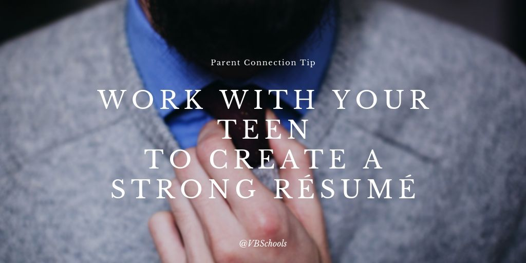 Parent Connection Tip of the Day: Work with your teen to create a strong résumé - bit.ly/33fZtQe