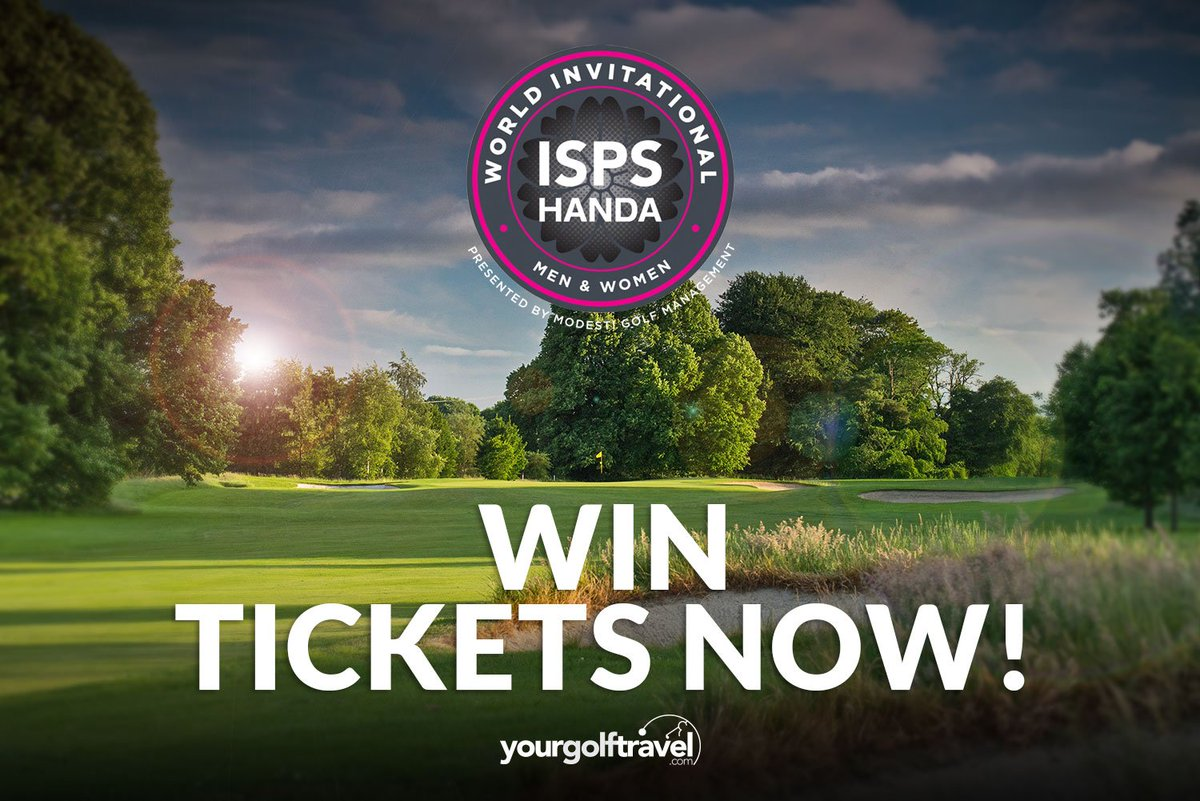 🚨 GIVEAWAY 🚨 Were super excited about the @World_Inv_Golf at Galgorm Castle next week... so, do ya fancy coming? Like this post 👍 Follow @yourgolftravel & tag the person you want to take with you! VIP & standard tickets up for grabs! 🎉🥂