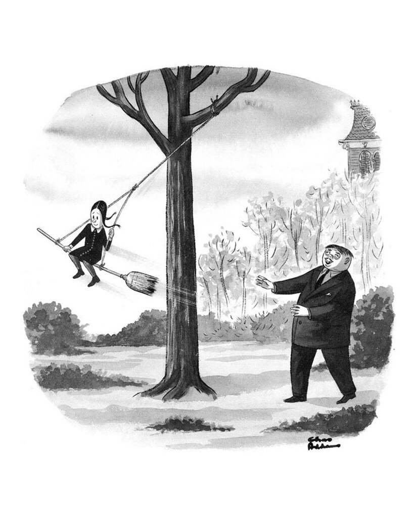 The Addams Family On Twitter Gomez And Wednesday Are The Most Devious Father Daughter Duo There Ever Was Today We Honor Charles Addams With This Homage Alongside His Original Cartoon Published 65 Years