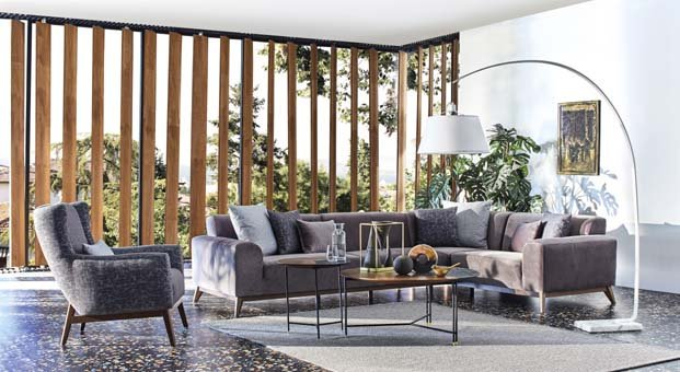 Enza Home'dan konforlu ve şık tasarım:Netha Köşe Takımı