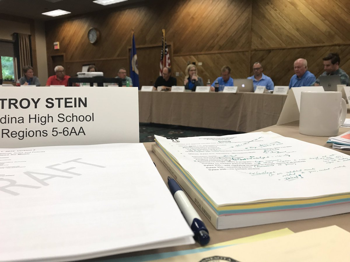 My first official #mshsl board of directors meeting. Amazing group.