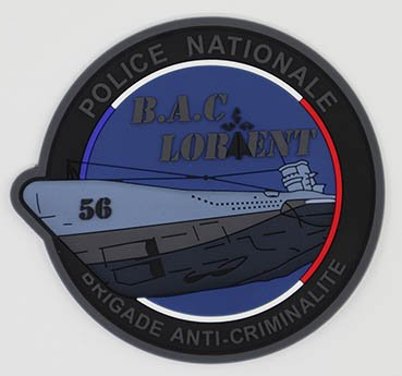 Un sous-marin allemand sur le projet d'écusson des policiers de la Bac de Lorient. Une enquête ouverte EBTHDSjW4AARIx7