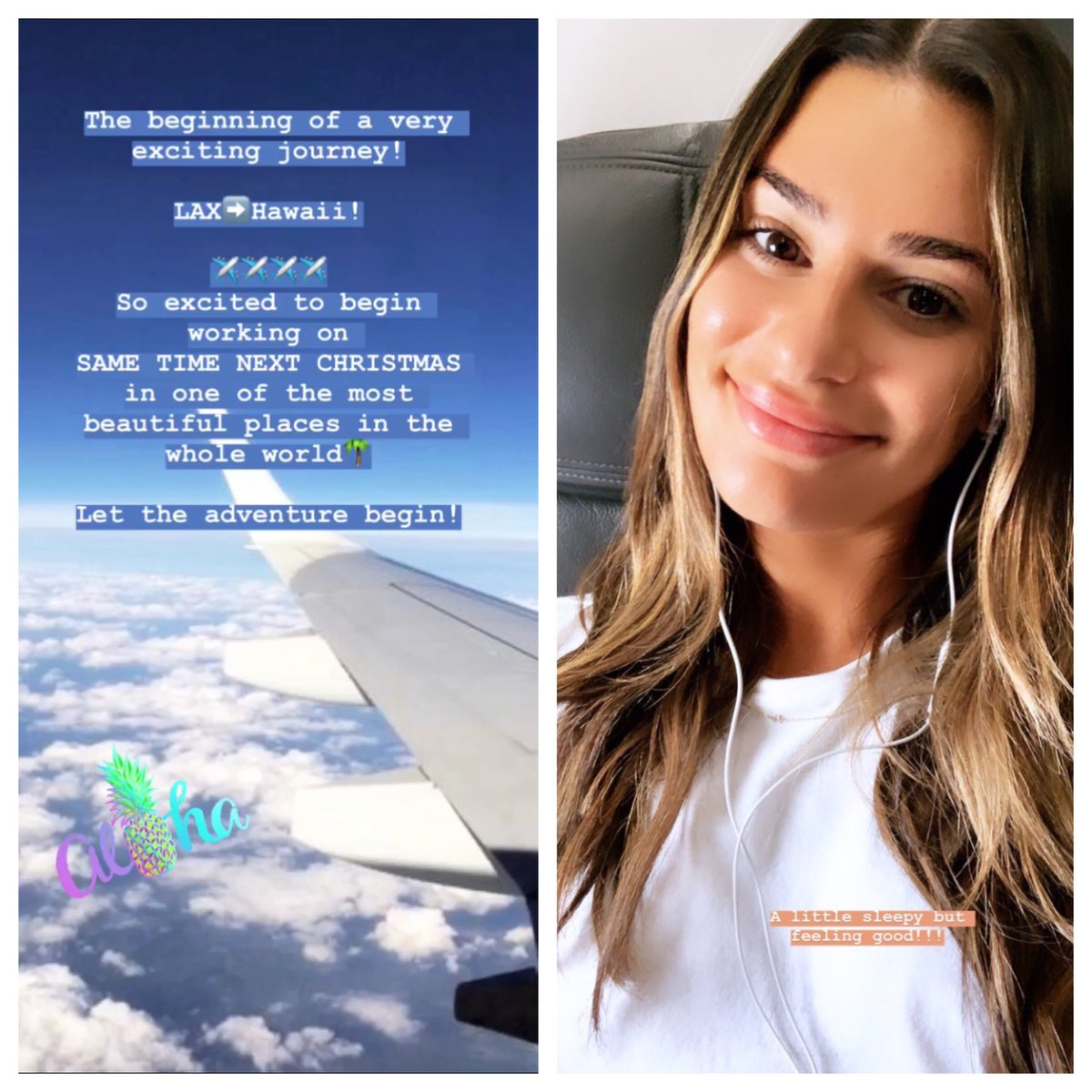 Christmas In Hawaii Movie.Reel News Hawaii On Twitter Lea Michele Is Inbound To Oahu