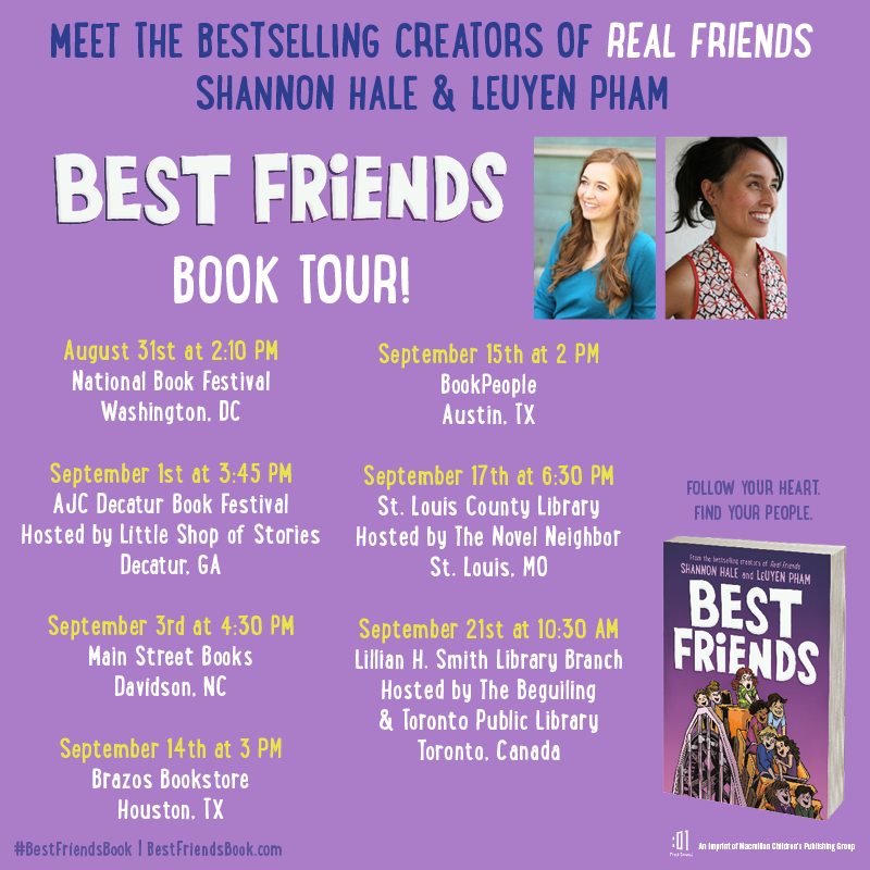 Very excited to announce my BEST FRIENDS tour with LeUyen Pham! Are we visiting near you? bit.ly/33iijWU