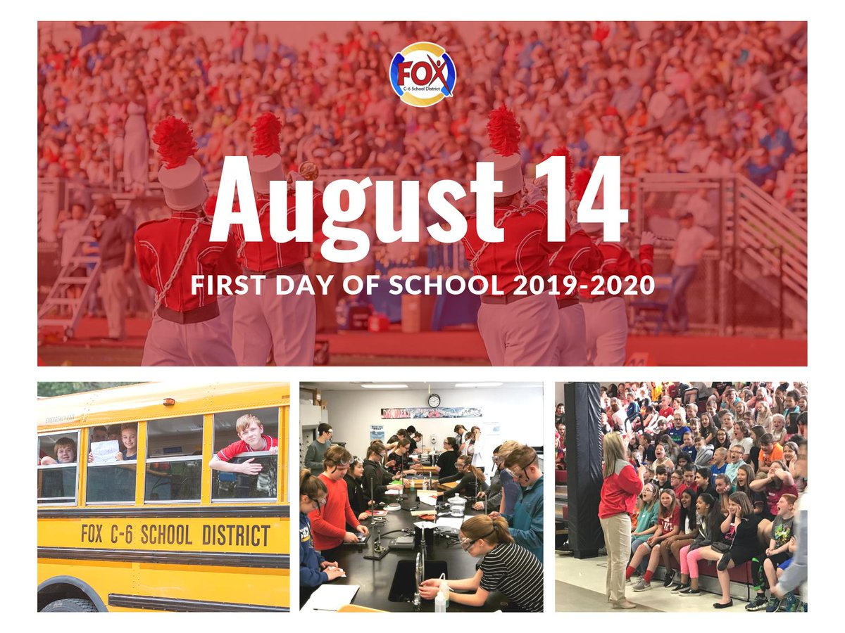 We are so excited to welcome students back to school on the first day of school, one week from today! #foxc6strong
