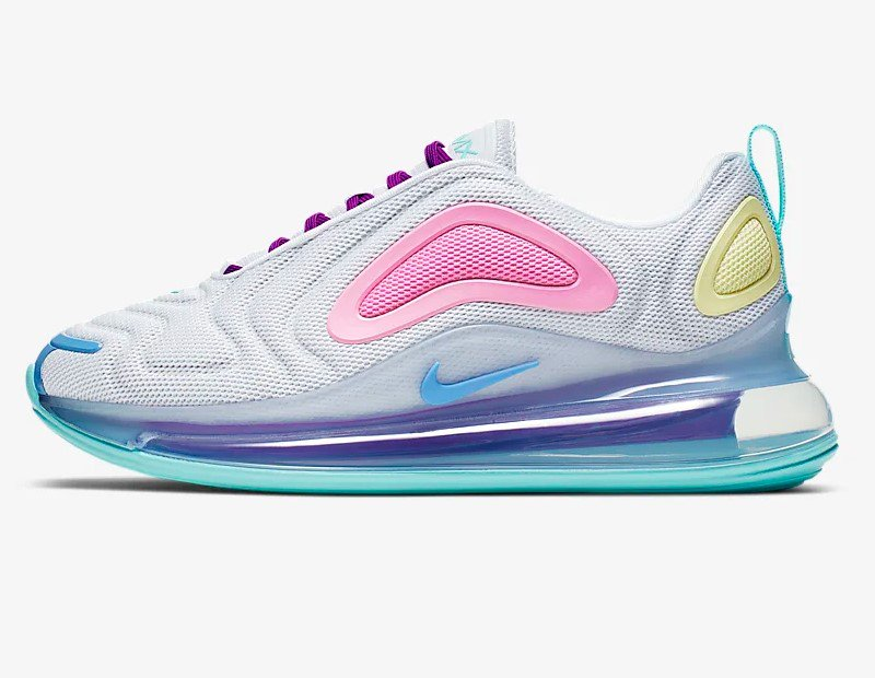 San Francisco b3d6d fb851 Nike Air Max 720 Blanc/Bleu craie/Rose Psychédélique/Aqua ...