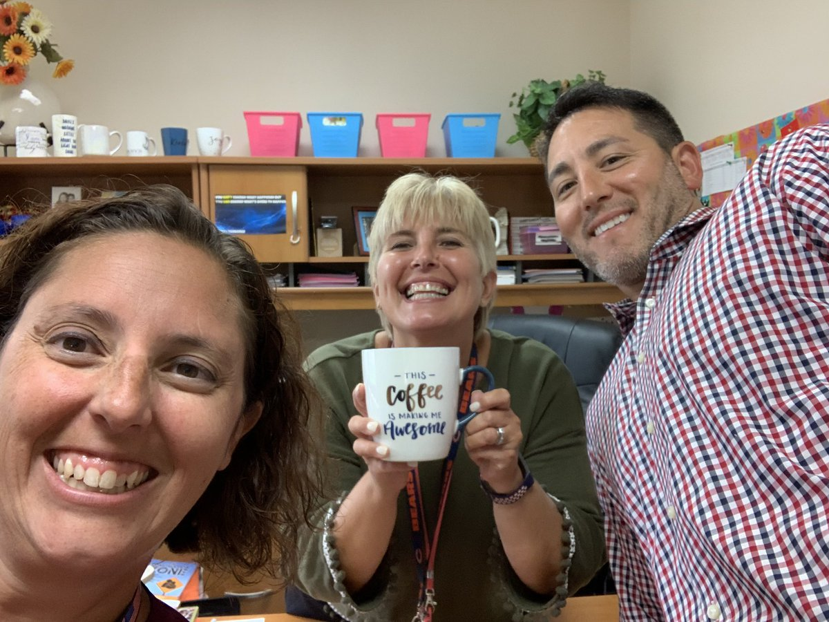 Thank you sooo much! There is nothing better than a coffee train brought by awesome colleagues to kick off the school year! It is VERY appreciated 😃☕️ #swd123 #d123 #OLHMS