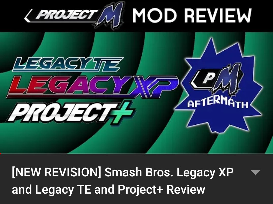 Heya! Made a new video, check it out!  I was reviewing @SmashBrosLegacy's and @ProjectPlusGame's mods! #YouTube #YouTubeGaming #smash #smashbros #supersmashbros #projectm #ssbb #smashbrosbrawl #pm #ssbpm #smashbroslegacy #legacyxp #legacyte #projectplus