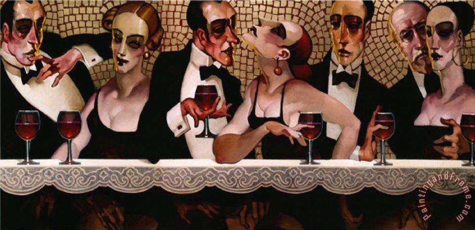 #OggiCosì Happy Hour with friends #DonneInArte #redhair #6agosto #BuonaSerata  Marijke e amici tutti !! #art J.Machado<br>http://pic.twitter.com/W40AoOozWj
