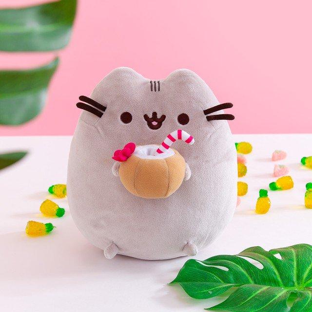 Neu 23cm Pusheen The Cat Pusheen With Ice Cream Plush Soft Toy Stock 2021 Hot