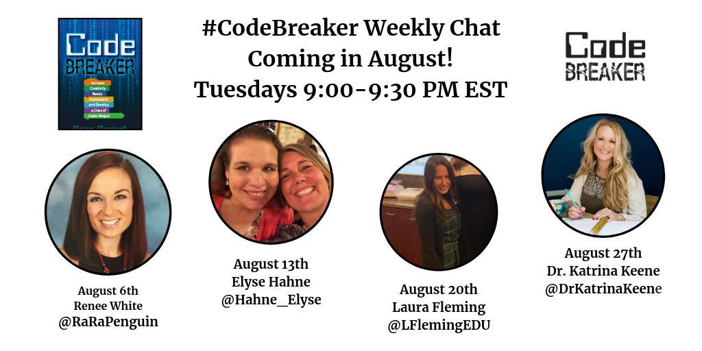 30 minutes until chat time! #codebreaker @mraspinall @teresagross625 @RaRaPenguin