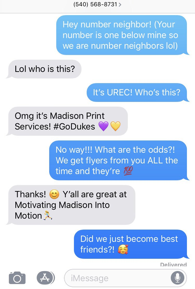 Social Media Posts for James Madison University (out-of-state)