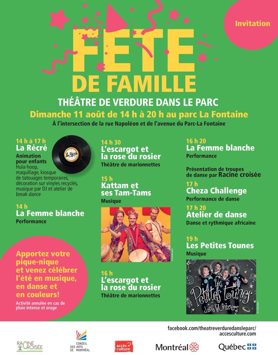 Quoi faire ce week-end? Voici l'évènement familial de l'été à ne pas manquer! 😮 On vous attend en grand nombre! 🤩👇 https://t.co/jbQYubZWRS  @LePMR  #accesculture #ateliers #animation #performance #musique #danse #marionnettes #vacances #plaisir #famille #enfant #montreal #été https://t.co/7YEiVdnCez
