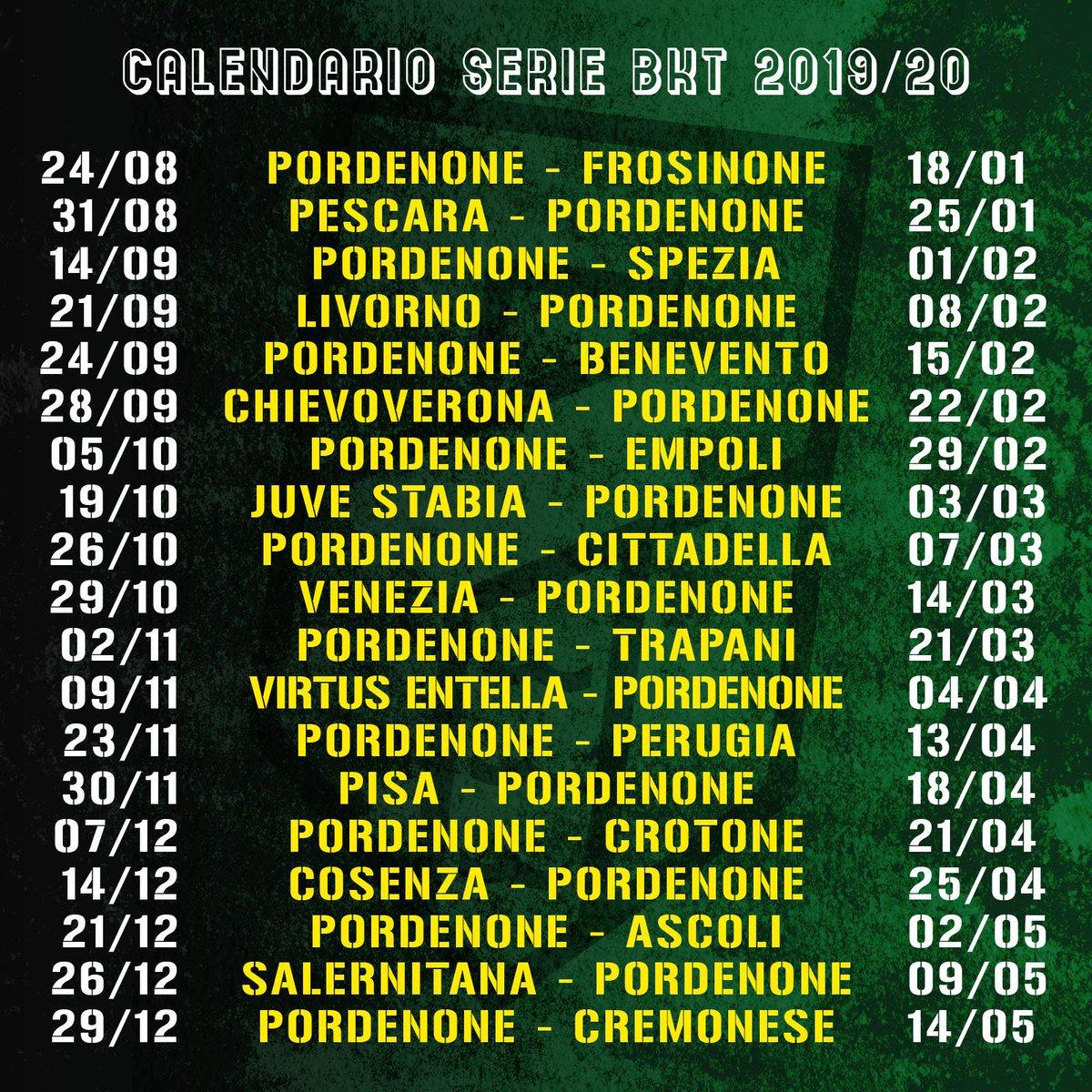Calendario Pordenone Calcio.Pordenone Calcio On Twitter Il Calendario Ufficiale Della